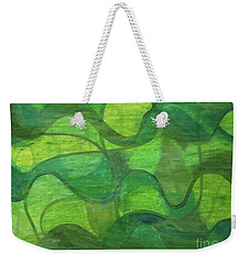Abstract Green Wave Connection Weekender Tote Bag