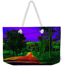 Abstract Highway Weekender Tote Bag