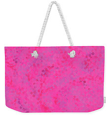 Weekender Tote Bag featuring the mixed media Abstract Hot Pink And Lilac 4 by Clare Bambers