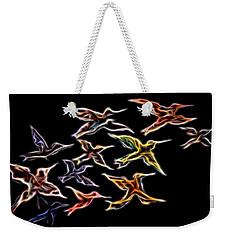 Abstract Hummingbirds Weekender Tote Bag