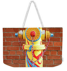 Weekender Tote Bag featuring the photograph Abstract Hydrant by James Eddy
