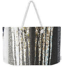Weekender Tote Bag featuring the digital art Abstract Icicles by Will Borden