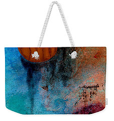 Abstract In Blue And Brown Weekender Tote Bag