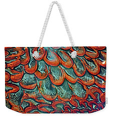 Abstract In Copper And Blue No. 7-1 Weekender Tote Bag