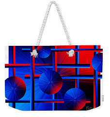 Abstract In Red/blue Weekender Tote Bag