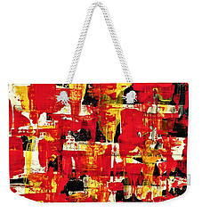 Abstract In Red, White And Yellow  Weekender Tote Bag
