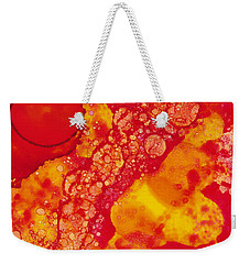 Weekender Tote Bag featuring the painting Abstract Intensity by Nikki Marie Smith