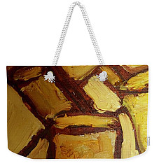 Weekender Tote Bag featuring the painting Abstract Lamp #2 by Shea Holliman