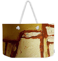 Weekender Tote Bag featuring the painting Abstract Lamp Number 4 by Shea Holliman
