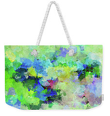 Weekender Tote Bag featuring the painting Abstract Landscape Painting by Ayse Deniz