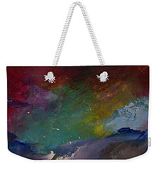 Abstract Landscape Red Bold Color Vertical Painting Weekender Tote Bag