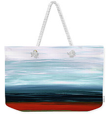 Abstract Landscape - Ruby Lake - Sharon Cummings Weekender Tote Bag by Sharon Cummings