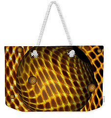 Weekender Tote Bag featuring the digital art Abstract - Life Grid by Glenn McCarthy Art and Photography