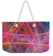 Weekender Tote Bag featuring the digital art Abstract Light Show by Andee Design