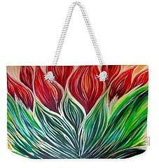 Abstract Lotus Weekender Tote Bag