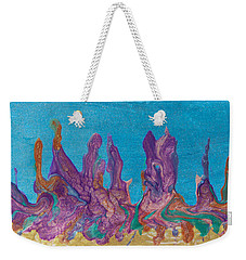 Abstract Mirage Cityscape In Blue Weekender Tote Bag