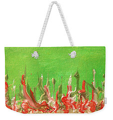 Abstract Mirage Cityscape In Green Weekender Tote Bag
