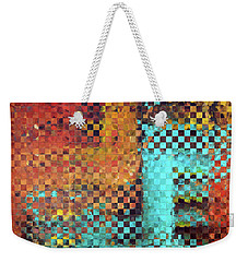 Abstract Modern Art - Pieces 1 - Sharon Cummings Weekender Tote Bag by Sharon Cummings