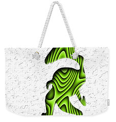 Abstract Monster Cut-out Series - Green Stroll Weekender Tote Bag by Uncle J's Monsters
