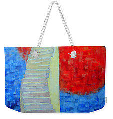 Weekender Tote Bag featuring the painting Abstract Moon by Ana Maria Edulescu