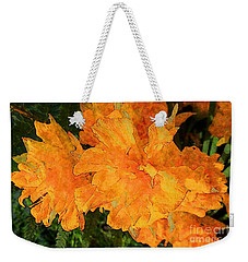 Abstract Motif By Yellow Daffodils Weekender Tote Bag