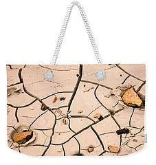 Abstract Mud Flat Pink Saturated Weekender Tote Bag