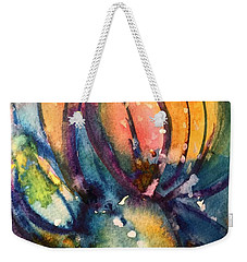 Weekender Tote Bag featuring the painting Abstract Nature by Allison Ashton