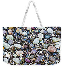 Abstract Nature Tropical Beach Pebbles 871a Blue Purple Pink And Orange 871a Weekender Tote Bag