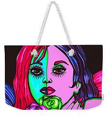 Abstract Neon Rose Fairy Weekender Tote Bag