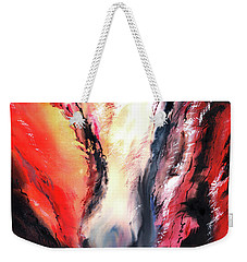 Weekender Tote Bag featuring the painting Abstract New by Anil Nene