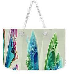 Weekender Tote Bag featuring the digital art Abstract No 35 by Robert G Kernodle