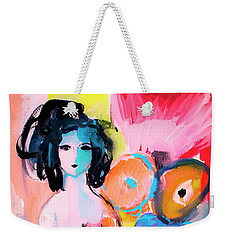 Abstract Nude With Flowers Weekender Tote Bag