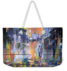 Abstract Of Motion Weekender Tote Bag by Raymond Doward