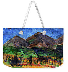Abstract Of Sky Trees And Mountains Weekender Tote Bag by R Kyllo