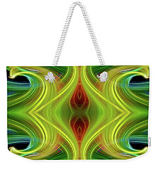 Abstract Of Swirls Weekender Tote Bag by Linda Phelps