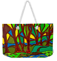 Abstract Of The Otter Pool Weekender Tote Bag
