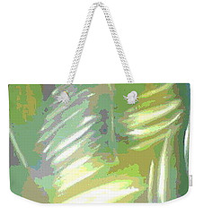 Weekender Tote Bag featuring the painting Abstract Oil Camo by Patricia Cleasby