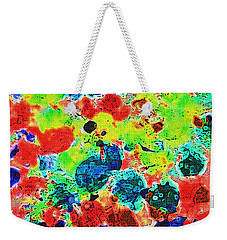 Weekender Tote Bag featuring the photograph Abstract Oil  Photo by Tom Janca