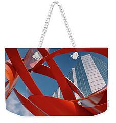 Abstract - Oklahoma City Weekender Tote Bag