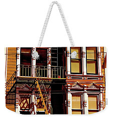 Abstract On Castro Weekender Tote Bag by Ira Shander