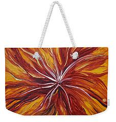 Abstract Orange Flower Weekender Tote Bag
