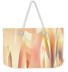 Weekender Tote Bag featuring the digital art Abstract Orange Yellow by Robert G Kernodle