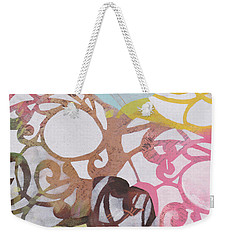 Abstract Pastel Swirls Weekender Tote Bag