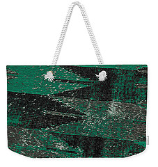 Abstract Pattern No.11 Green And Black Weekender Tote Bag