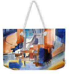 Abstract- Peggy's Cove Weekender Tote Bag by Larry Hamilton