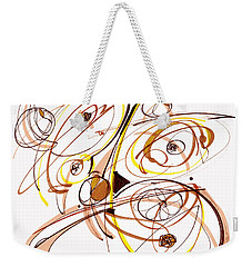 Abstract Pen Drawing Five Weekender Tote Bag by Lynne Taetzsch