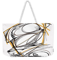 Abstract Pen Drawing Four Weekender Tote Bag by Lynne Taetzsch