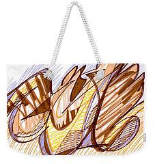 Abstract Pen Drawing Nine Weekender Tote Bag