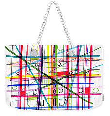 Abstract Pen Drawing One Weekender Tote Bag by Lynne Taetzsch