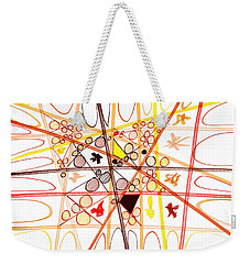 Abstract Pen Drawing Three Weekender Tote Bag by Lynne Taetzsch
